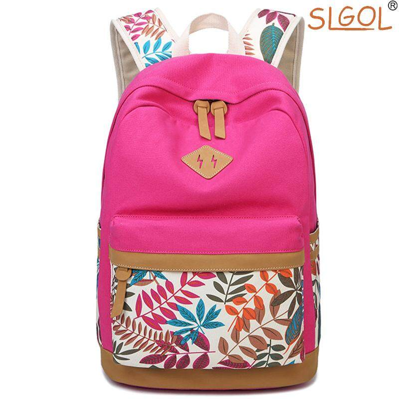 ⚡️SLGOL Canvas Backpack Lightweight Casual Shoulder School Bag Daypack Laptop Bag for Girls
