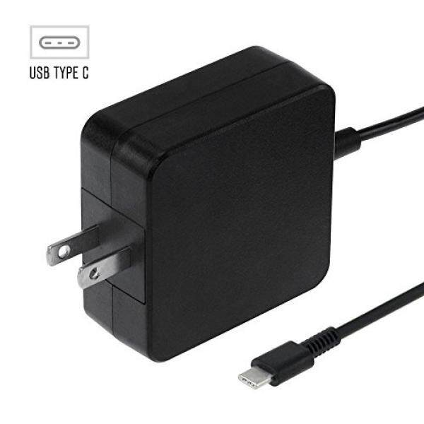 Pengisi Daya Laptop & Adapter USB C PD Charger Dinding, 45 W AC dengan Adaptor Daya Built-In USB-C Kabel untuk MacBook/Pro, nintendo Switch, Dell XPS/Inspiron, HP Spectre, Zenbook, Google Pixelbook, pixel/2/XL, Samsung S8/Note 8-Intl