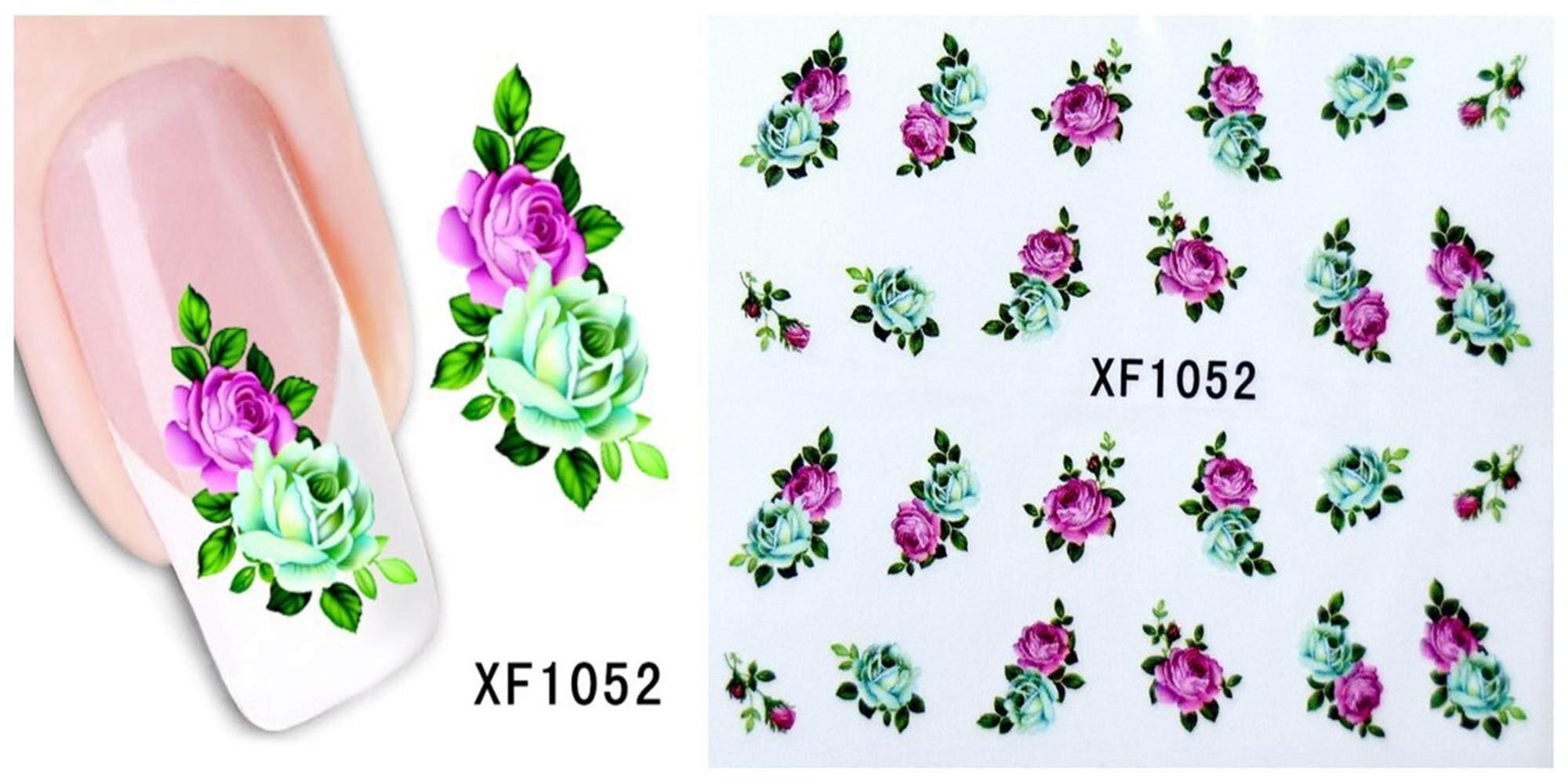 Transfers Nail Sticker Tatoo Various Flower 3D Nail Art Decals for Women Girls Gift Design 52