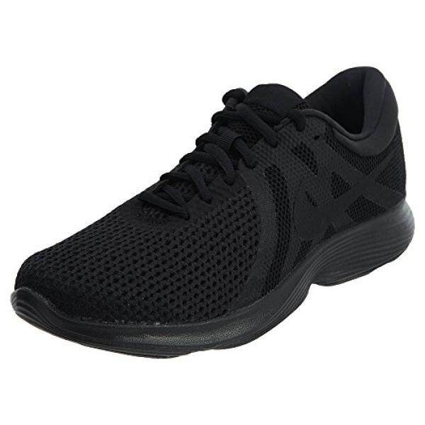 ปัตตานี NIKE Womens Revolution 4 Running Shoes Black/Black 8