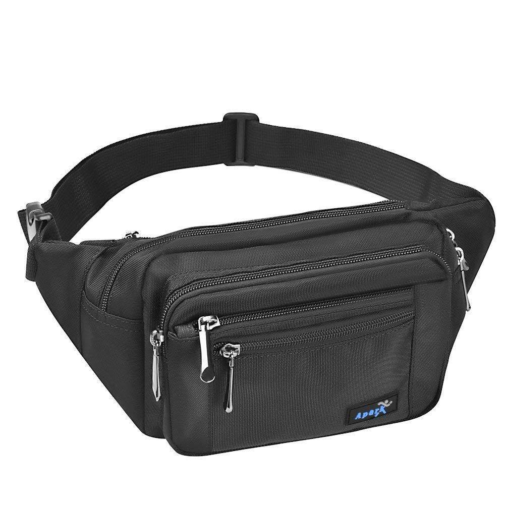 Premium Quality Waist Bag - ARCTIC HUNTER Men Casual Waist Pack Travel Bag Sport Bag or