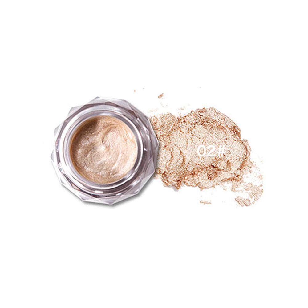 Hoopchina Glitter Cream Eyeshadow, 8 Colors Shimmer Golden Metallic Jelly Highlights Powder Glow Eye Shadow