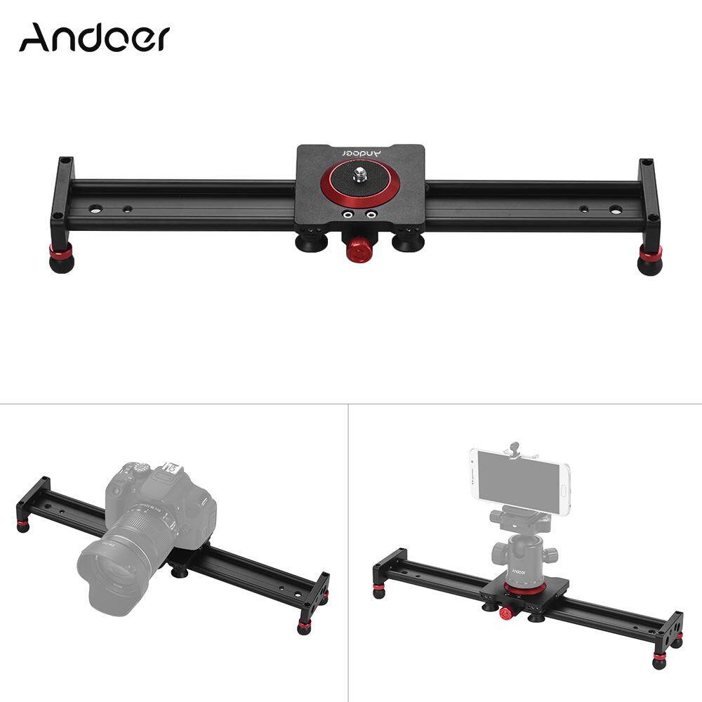 Andoer 40cm/16inch Aluminum Alloy Camera Track Slider Video Stabilizer Rail For Dslr Camera Camcorder Dv Film Photography, Load Up To 11lbs - Intl By Tomtop.