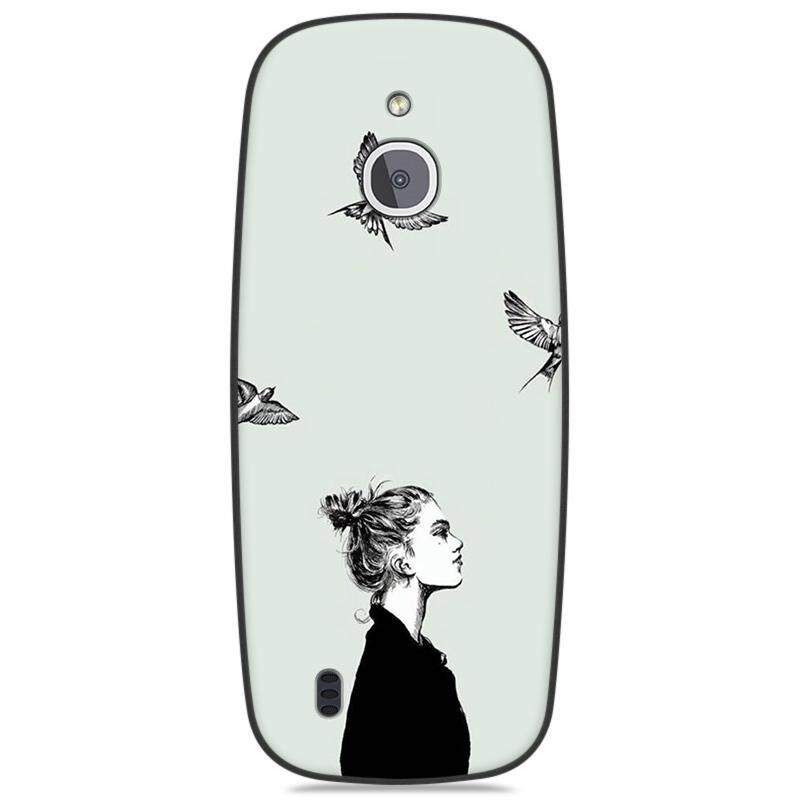 Topias untuk Nokia 3310 4G Kreatif Tpu Lembut Cetak Pelindung Berpasangan 2.4 Inch