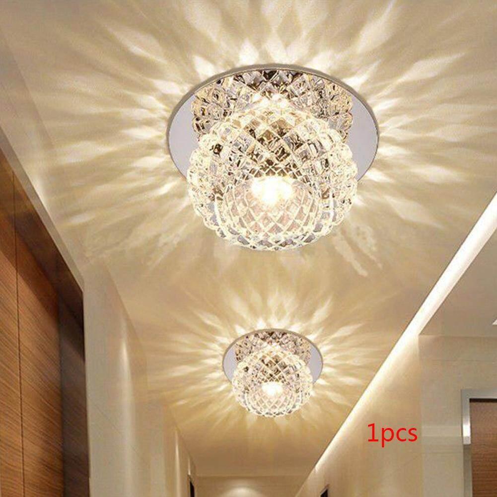 5W Artificial Crystal LED Ceiling Light Fixture Pendant Lamp Lighting Chandelier
