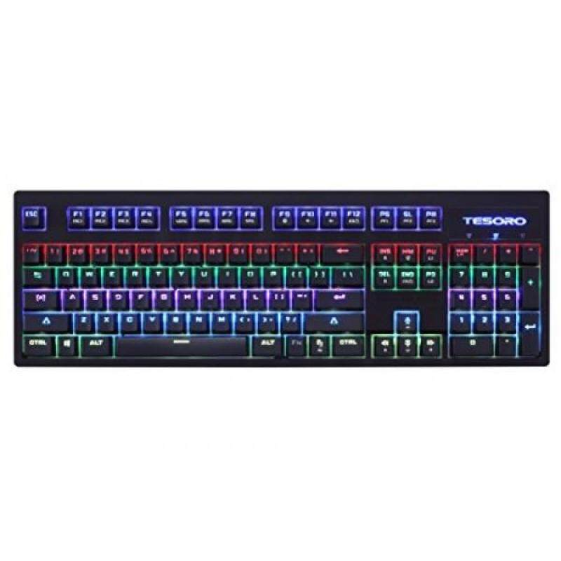PC Game Hardware Tesoro Excalibur SE Spectrum Blue Optical Switch RGB LED Mechanical Gaming Keyboard, Black TS-G7SFL-SE B (BL) - intl Singapore