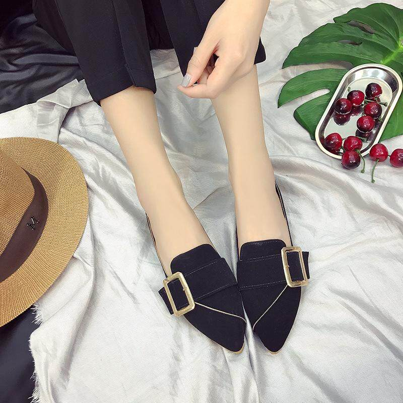Sunny Fashion® Fashion Brand 2018 Spring And Summer New Tassels Wild Shoes Pointed Thick With The Single Shoes Tide Ladies Shoes Sandals Casual Shoes Mummy Shoes Student Shoes By Shic.