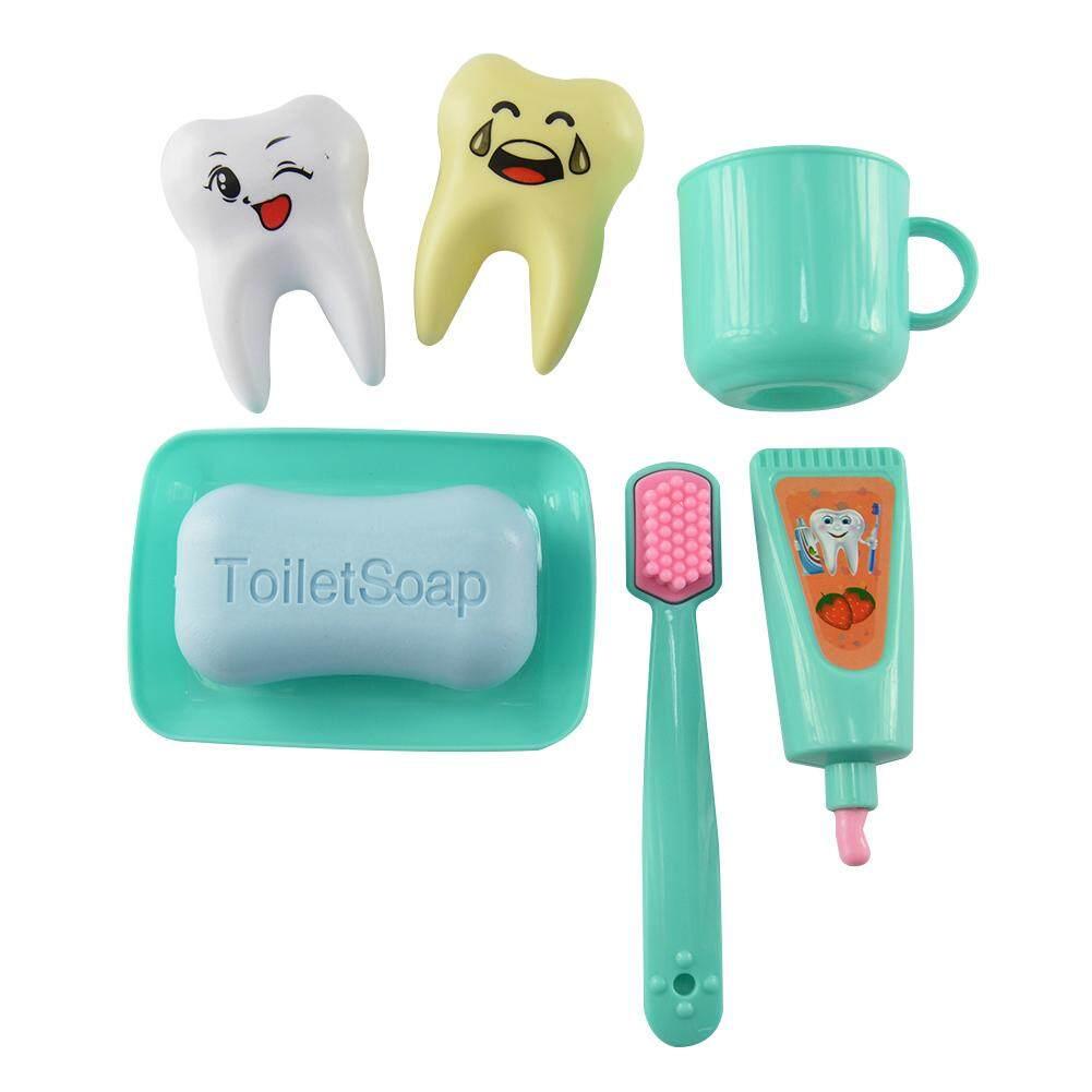 Yunmiao 7 Pcs/set Mainan Bayi Pretend Mainkan Dokter Set Mainan Gigi/Dokter Gigi Alat Simulasi Kotak Obat- internasional