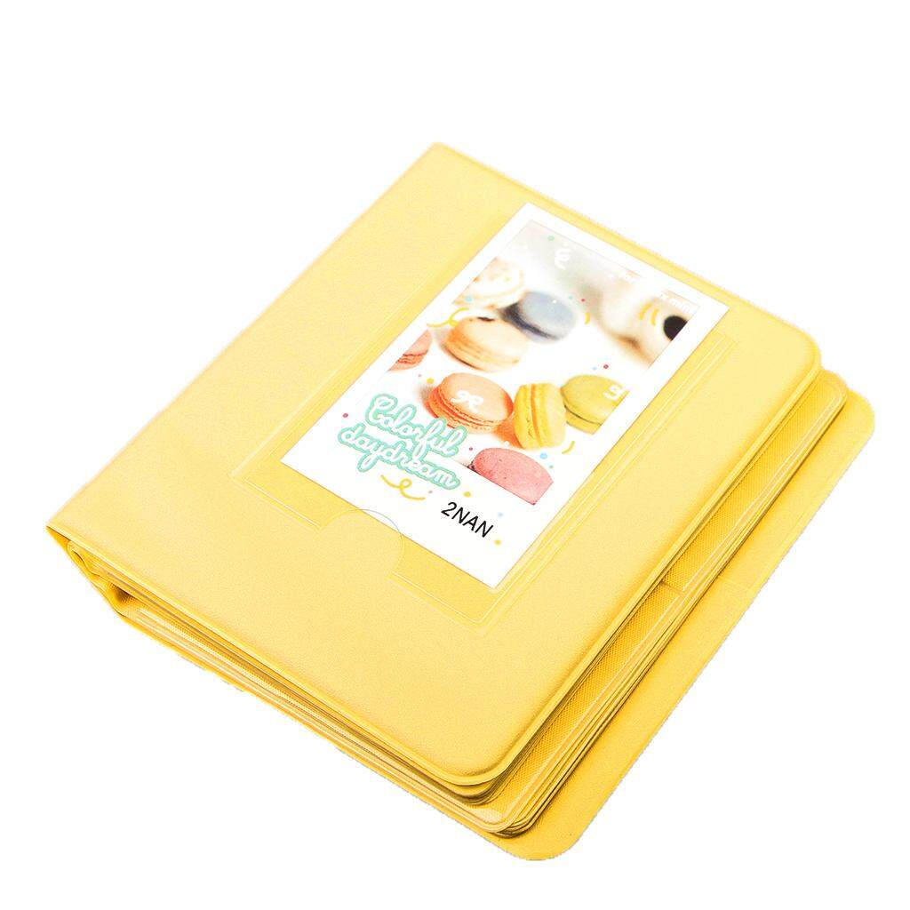 Miracle Shining Photo Album Box Book for Fuji Polaroid Instax Mini Film Case Yellow