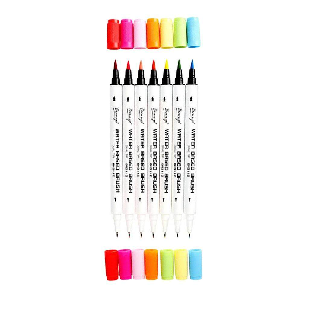 Mua BolehDeals Water Based Ink Sketch Marker Pens Twin Tip Fine Brush Marker Pen 36 Colors