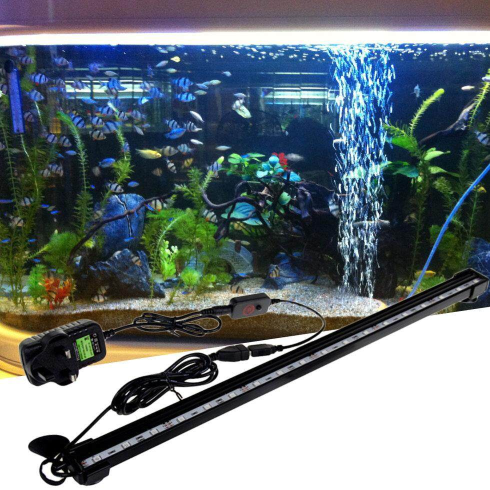 Hadiah 16 Cm Akuarium Ikan Tangki Anti-Air LED Ringan Bar Submersible Udara Gelembung-