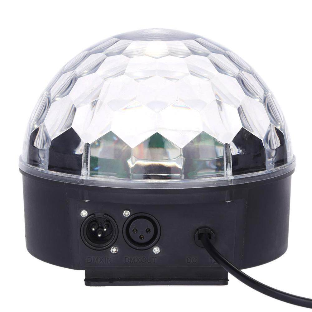 Qimiao Colour Changing 27W Creative LED Stage Laser Lamp Crystal Ball Light Club Disco DJ Party Bar Sound Sensor Decoration Specification:European/US Specification - intl