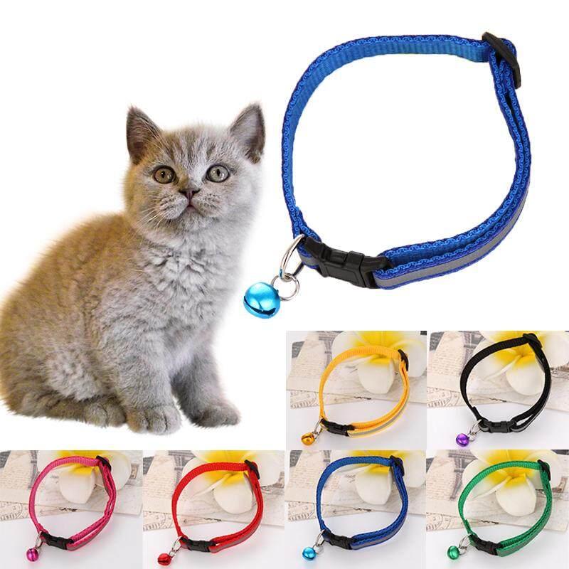 6 Pcs 6 Warna Reflektif Bell Peliharaan Anjing Kucing Kerah Kucing Chihuahua Adjustable Kerah Anjing Kecil