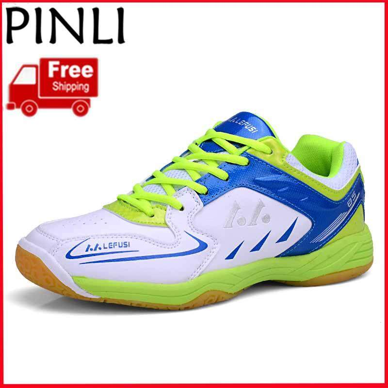 PINLI [Free Shipping] Women's Badminton Shoes Professional Sports Shoes Light Non-slip Training