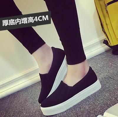 2018 Musim Semi Musim Panas Gaya Baru Kasual Sepatu Tebal Bawah Kulit Anda Meningkatkan Gao Le Fu Sepatu Anda Membantu rendah Sepatu Kanvas Papan Sepatu Wanita Han Melarang Chao Di Dalam Mie-Internasional