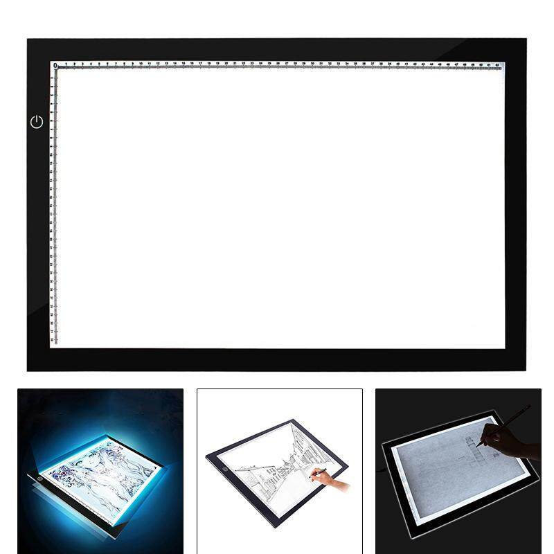 YBC A2 LED Light Box Tracing Board Ultra Thin Lights Pad Panel for Art Craft Drawing Stencil Animation