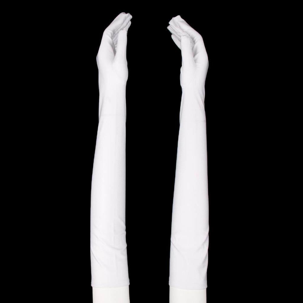 Fenteer สุภาพสตรีถุงมือแบบเปิดครึ่งนิ้ว Party 1920 S โอเปร่ายาวถุงมือครีมกันแดด By Fenteer.