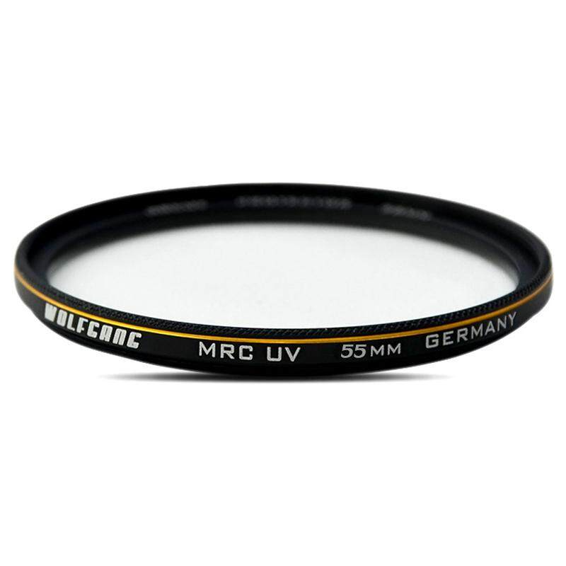 WOLFGANG 55mm Pro HD Super Slim MRC UV Filter Germany Glass Waterproof Nano Multi-Coated for Canon Nikon Sony Pentax DSLR Camera