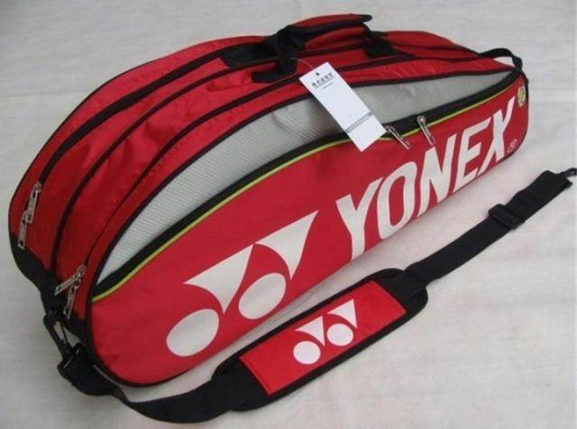 Badminton Bag 9332 Badminton Bag Double Zips Bag with Shoes Compartment + 2 Main Packets 2