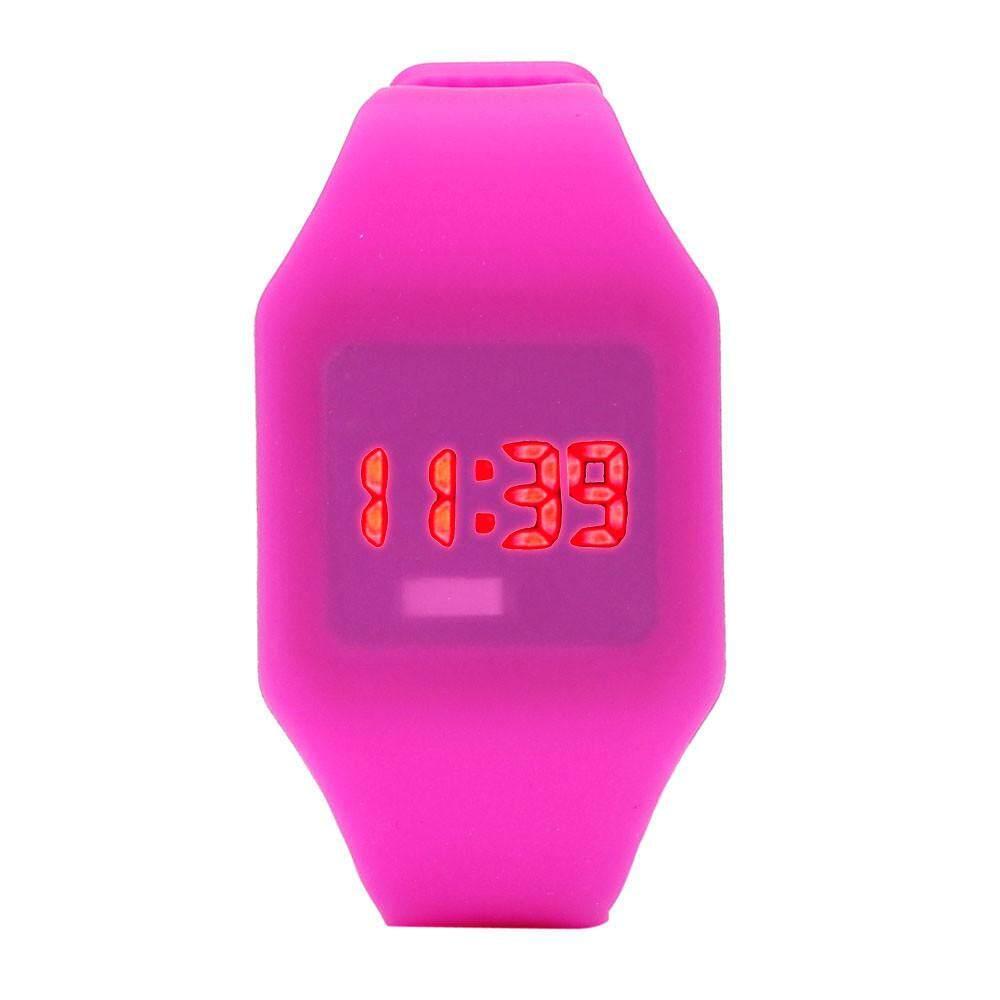 VRE Whatch Toko Pria Wanita Jam LED Silikon Gelang Olahraga Pergelangan Tangan Digital Watch RD-