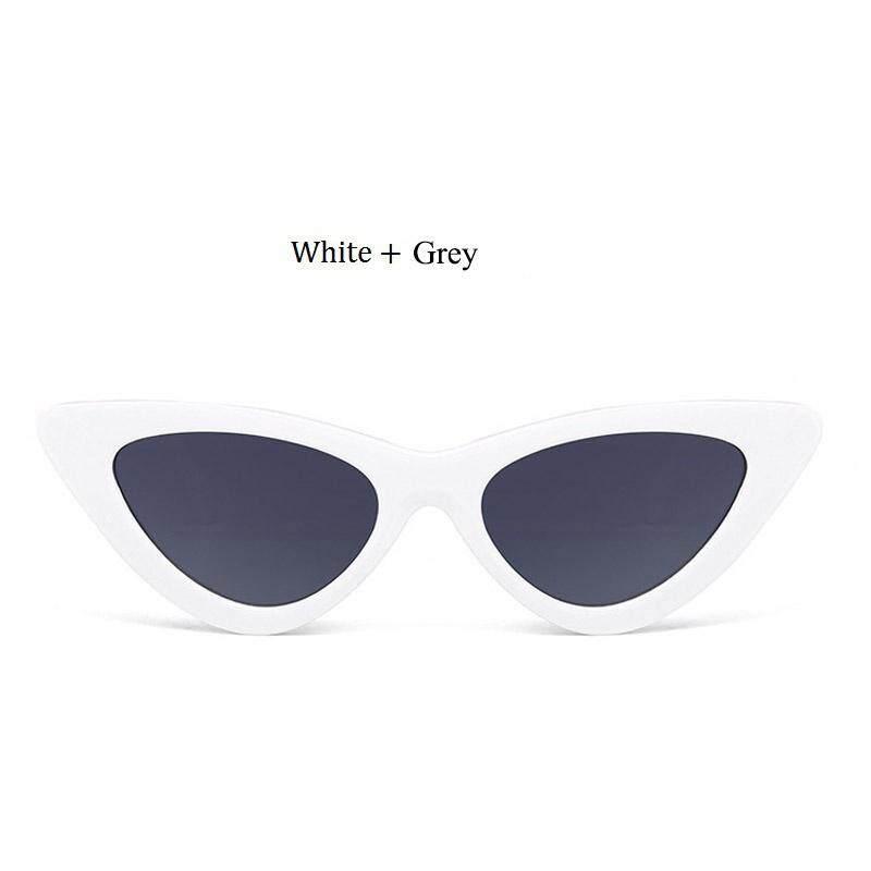 Mata Kucing Retro Kacamata Wanita Desainer Merek Kuno Hitam Merah Mata Kucing Putih Kaca Mata Perempuan