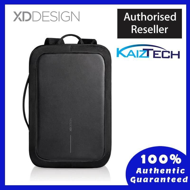 Original XD Design Bobby Bizz Anti-Theft Backpack & Briefcase - Black  15 Inch