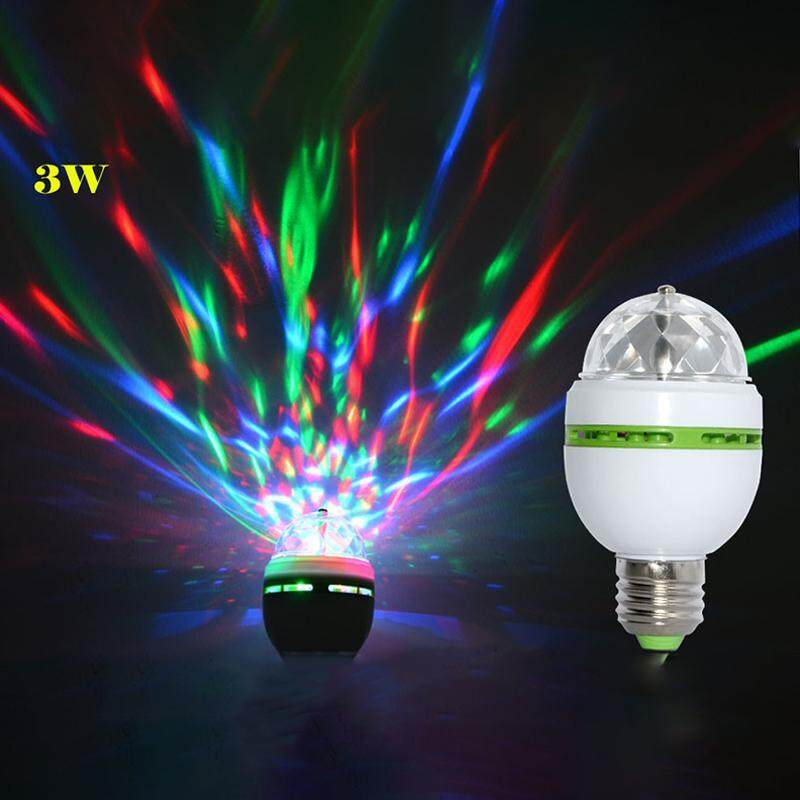 Big House E27 3W 100-240V Colorful Auto Rotating RGB LED Bulb Stage Light Party Lamp Disco For  Party Festival Wedding Decor Singapore
