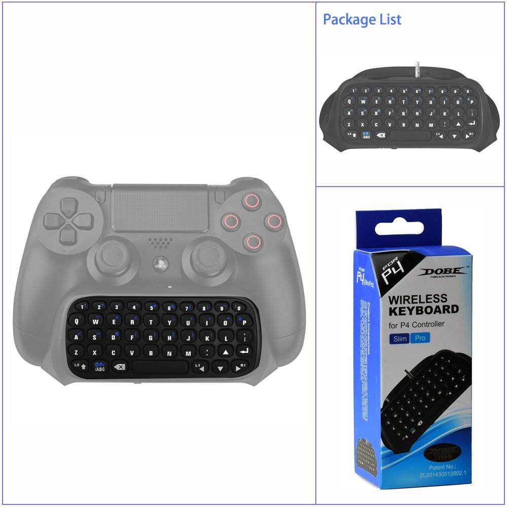 Mini Wireless Bluetooth Gamepad Chatpad Message Keyboard for PS4/ PS4 Slim/  PS4 Pro Controller Game Accessories