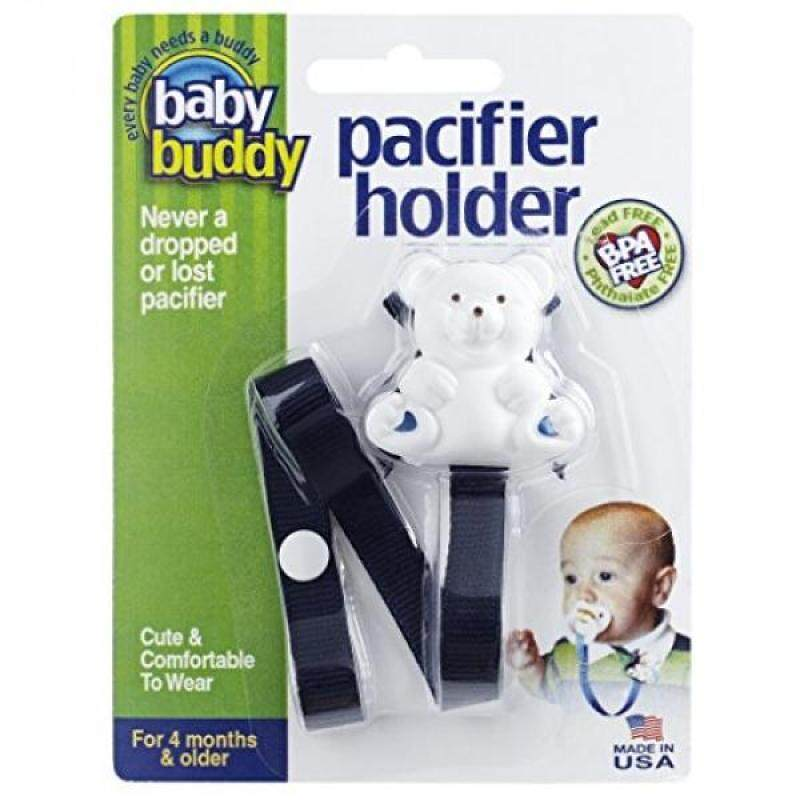 Baby Buddy 2 Piece Unisex Pacifier Holder Clip, Navy, onths and Up Singapore