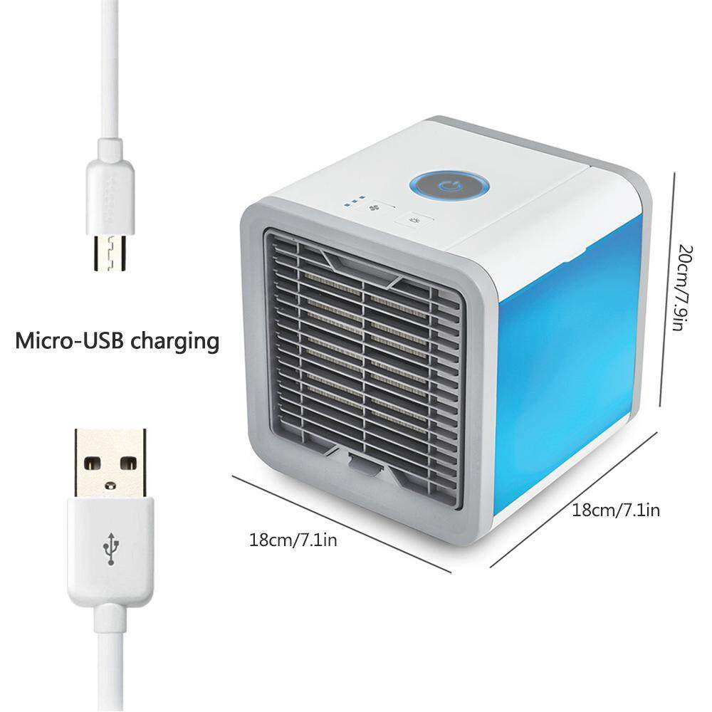Foonee Personal Space Air Cooler, 3 In 1 USB Mini Portable 7 Colors Nightstand
