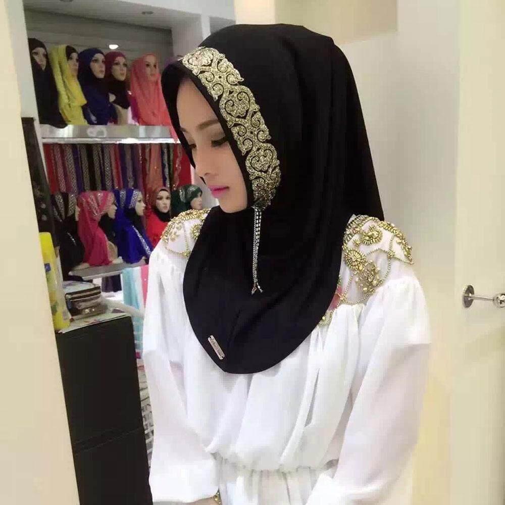 ... niceEshop Women Fashion Muslim Hijab Turkey Linen Turban Wraps Jersey Scarf Shawls Solid Color Scarves Head ...