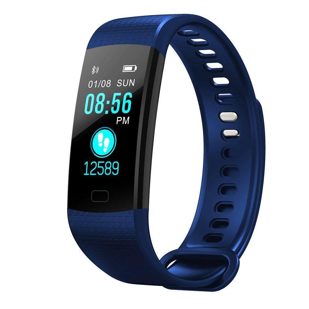 Y5 Gelang Detak Jantung Tekanan Darah Monitor Bluetooth Pintar Jam Tangan IP67 Air Tahan Kebugaran Pelacak Pintar Gelang untuk Android dan ios Telepon-Internasional