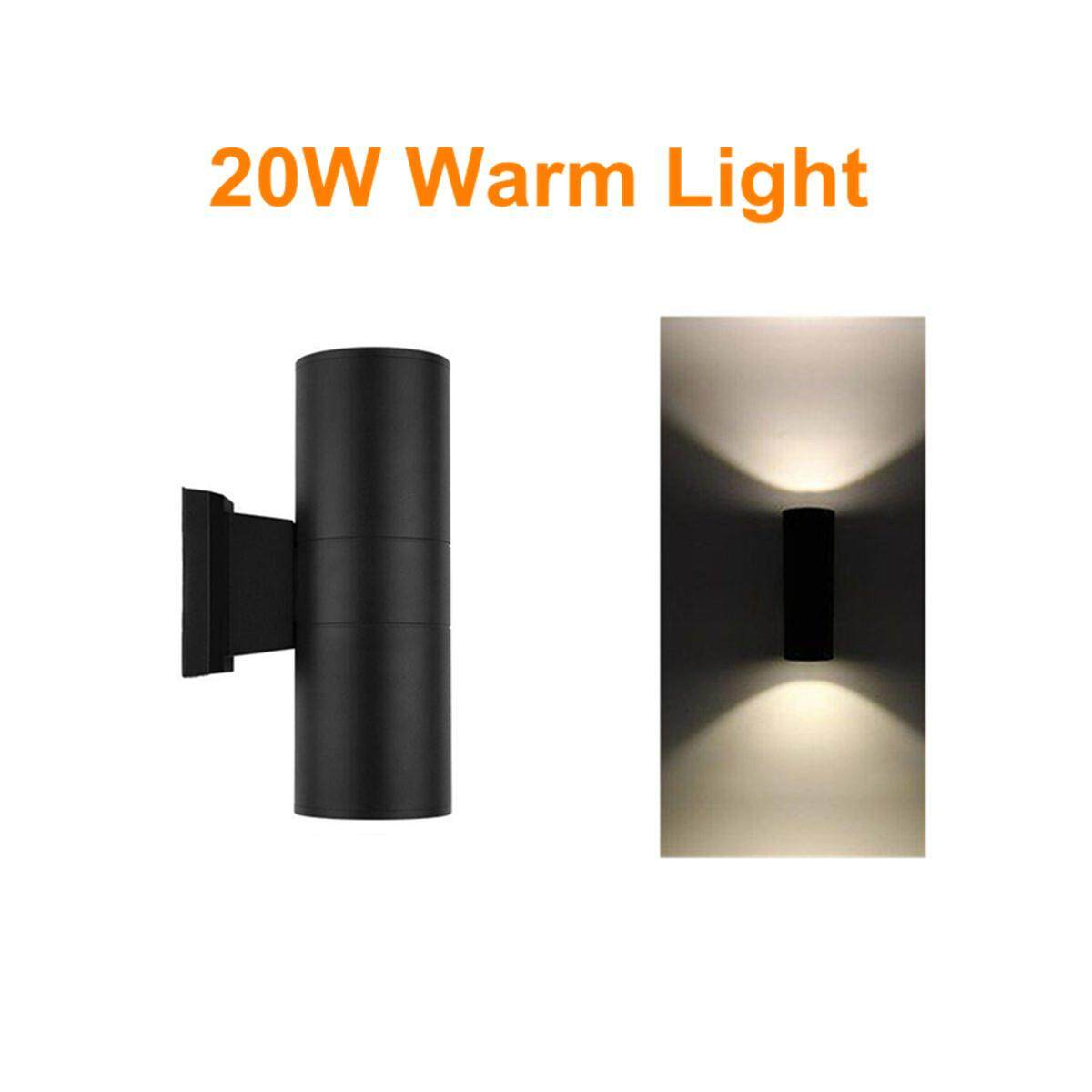 10W LED Dual-Head Up & Down Wall Light Sconce Lamp Outdoor Waterproof [20W warm light]