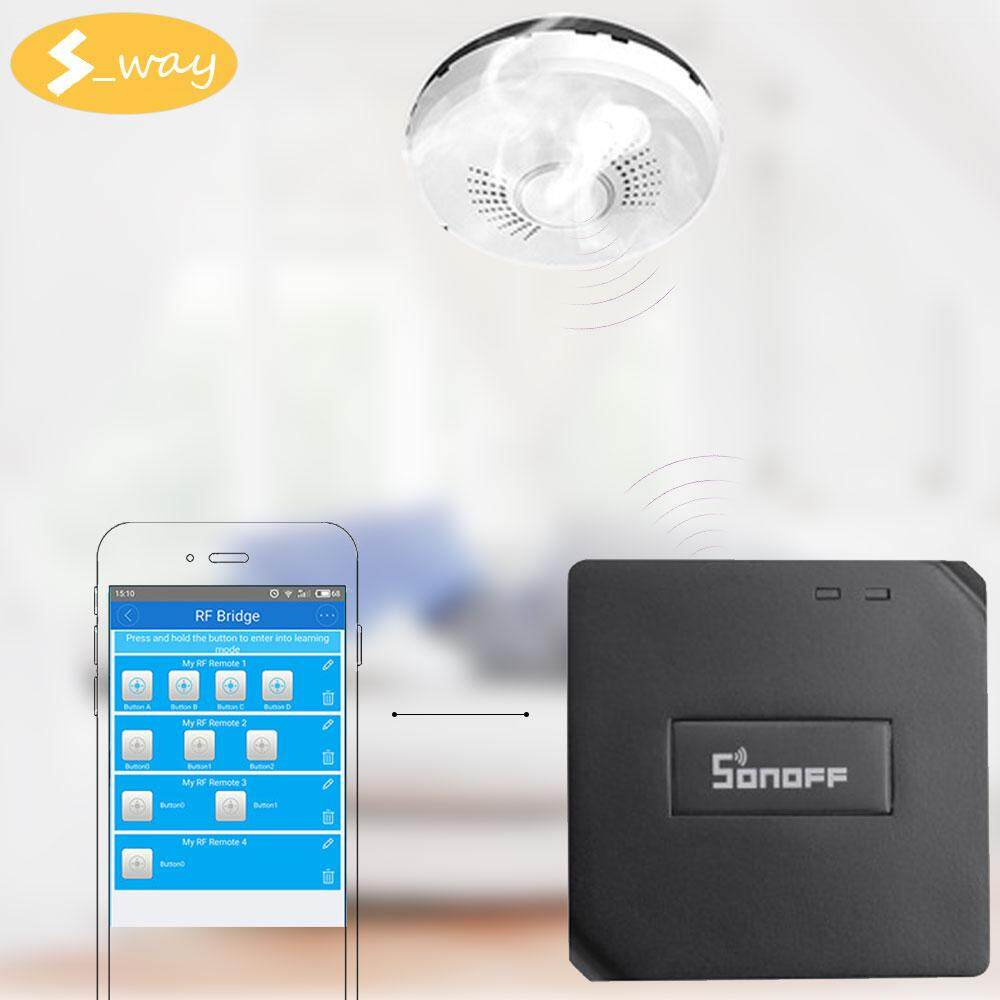 Sway Sonoff Smart Switch RF Bridge 433 433MHz Radio Wifi Remote DIY Timer  Smart Home Anti-Theft Alarm And Fire Alarm