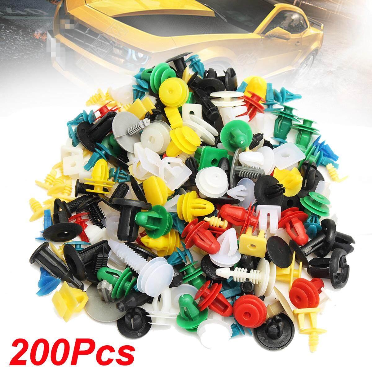 200 cái Nhựa Cửa Xe Ô Tô Viền Kẹp Ốp Lưng Đinh Tán Ốc Vít Cơ Thể Bảng Đẩy Nhanh Bộ
