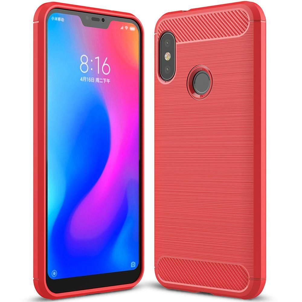 Untuk Xiaomi Serta A2 Lite Case Lembut Silikon Pelindung Redam Kejut Cover dan Serat Karbon Desain