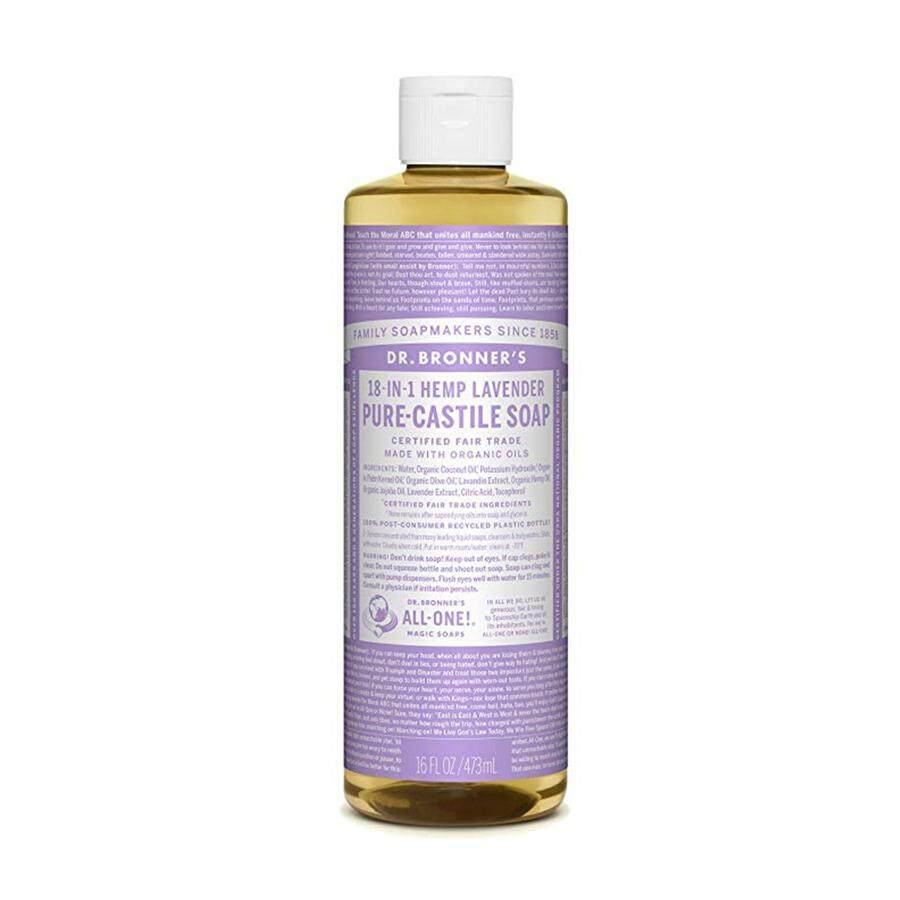 Dr. Bronner's Pure-Castile Liquid Soap Shower and Travel Pack - Lavender 16oz.