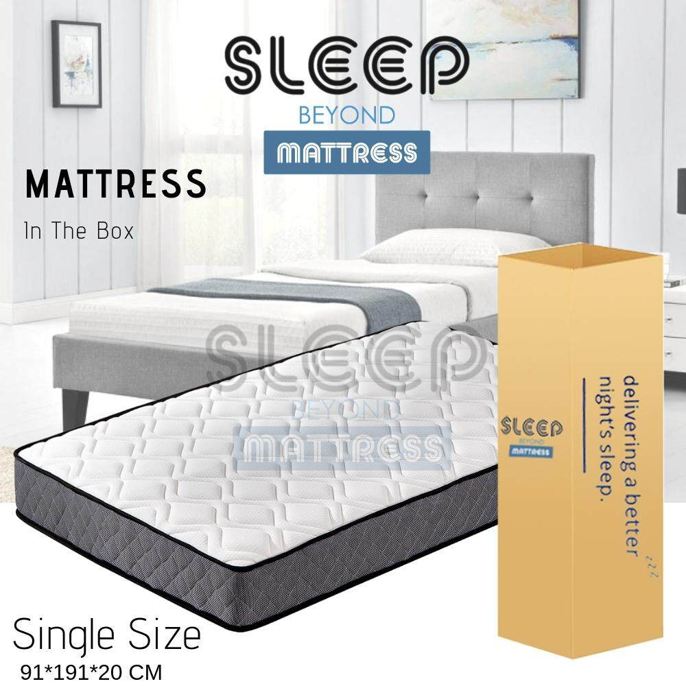 (RAYA 2019) Sleep Beyond Out from a BOX Pocket Spring Mattress With Foam Padding Tilam(22cm Thickness)