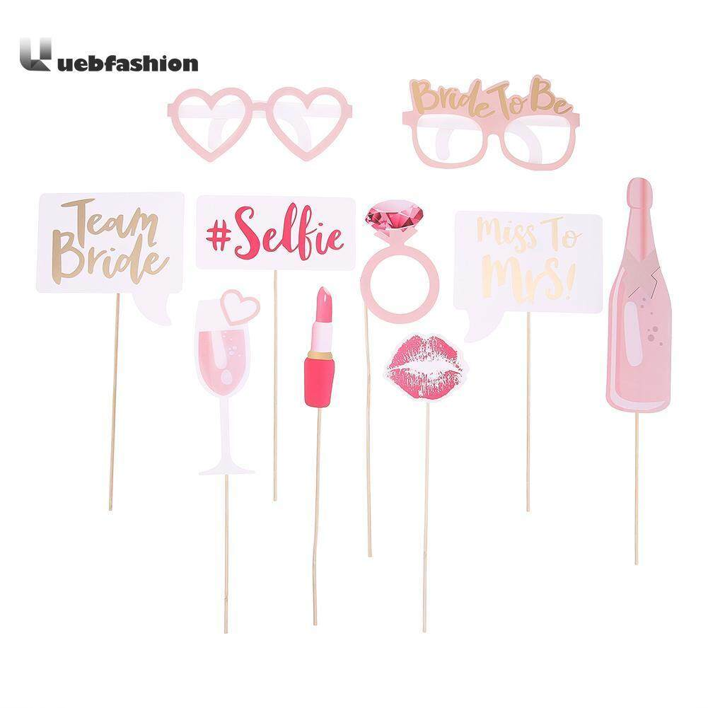 Hình ảnh 10pcs/set Hen Party Photo Booth Prop Wedding Decor Bridal Bachelorette Party Supplies - intl