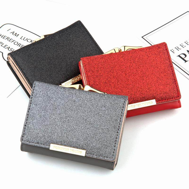 bb950d952652 2018 New Style Small Cute Girl's shining Wallet Hasp Mini Ladies Wallets  Women's Purses