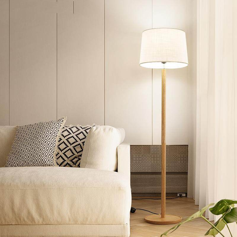 Floor lamp living room bedroom, sofa solid wood coffee table lamp, creative personality vertical warm table lamp