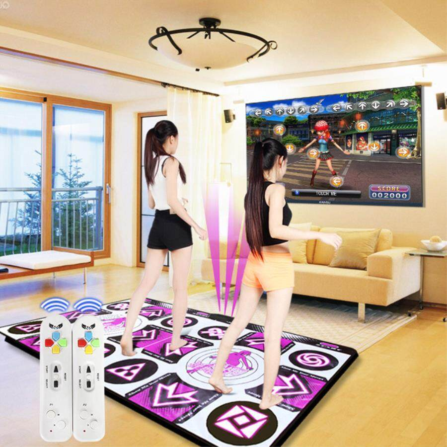 English Menu 11 Mm Thickness Double Dance Pad Non-Slip Pad Yoga Mat Two Remote Controller Sense Game For Pc & Tv By Darling Baby.