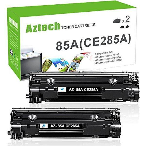 Laser Printer Drums & Toner AZTECH 2 Pack 1,600 Pages Yield Black Compatible Toner Cartridge Replaces CE285A CE285 85A Used for HP LaserJet Pro P1102 HP LaserJet P1102W P1212NF MFP M1217NFW MFP MF1132 Printer - intl