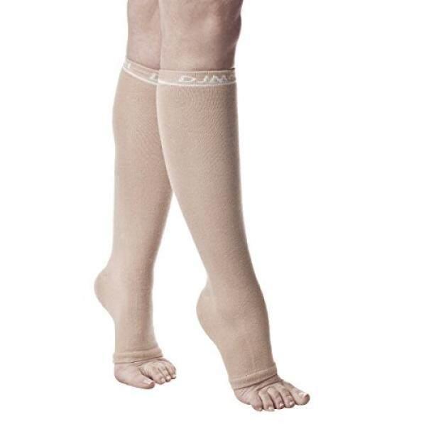 DJMed Leg Skin Protectors – Protective Leg Sleeves, For Sensitive Skin, Help Protect From Tears & Bruising – Pair, Tan (Medium/Regular) / From USA