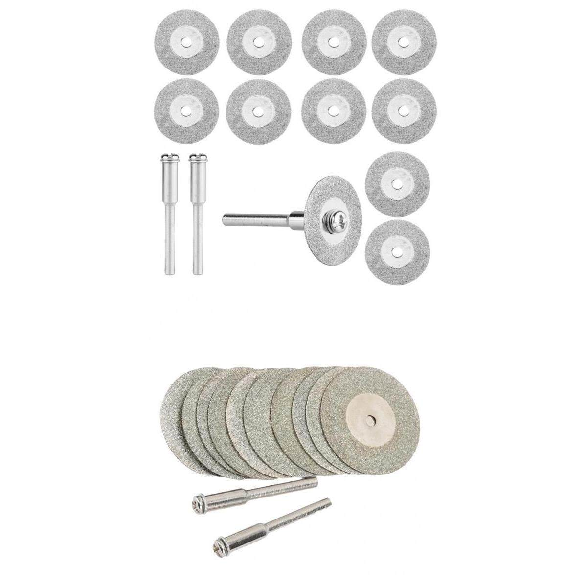 Magideal 20pc Diamond Cutting Discs Cut-Off Wheel With 4pcs 1/8 Mandrel 30mm & 20mm By Magideal.