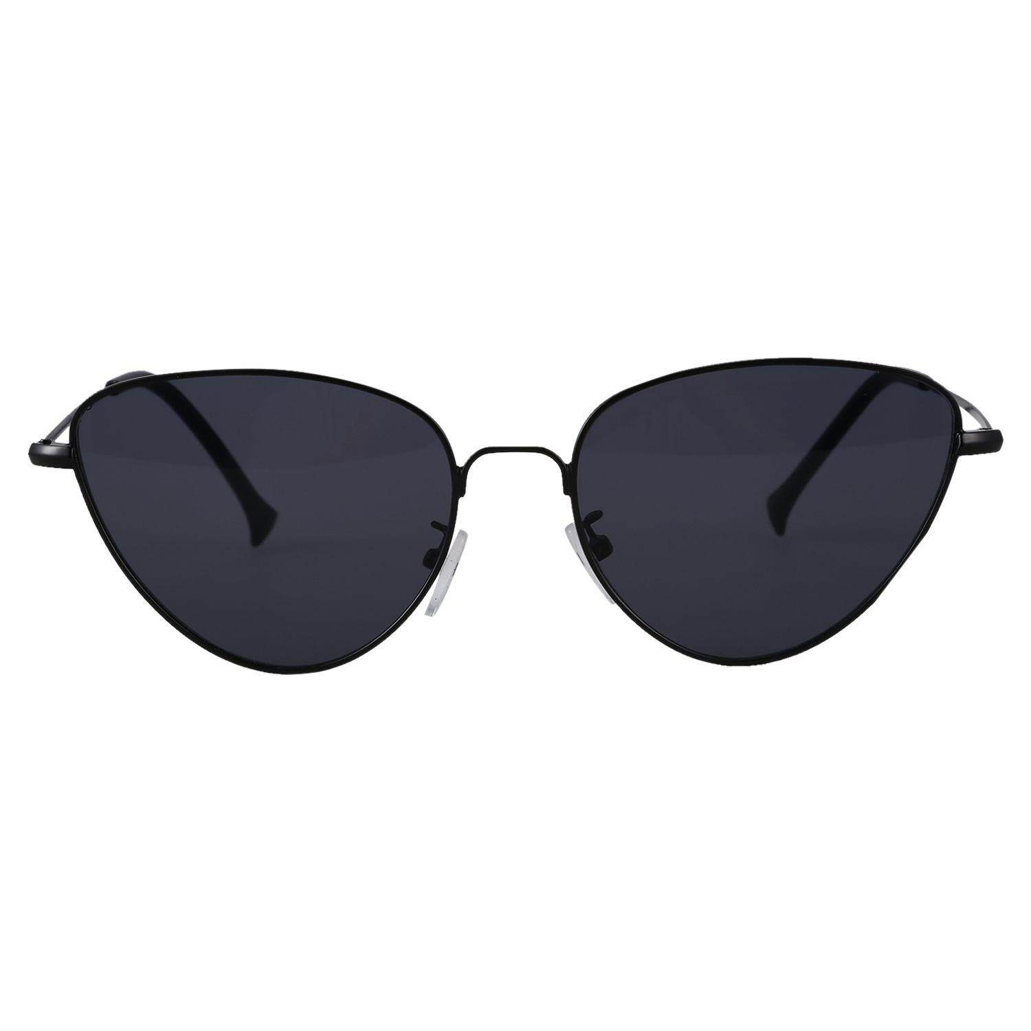 Summer style retro lady cat eye reflective sunglasses fashion neutral glasses S17011 Black