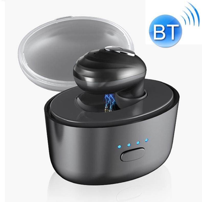 K3 Mini Single Ear Water Resistant & Dustproof Bluetooth 4.1 + EDR HIFI Stereo Earphone with Charging Bin, For iPhone, Galaxy, Huawei, Xiaomi, HTC and Other Smartphones (Black)