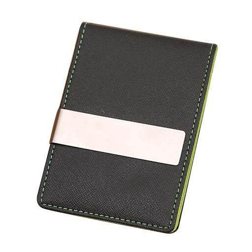 Mens Thin Leather Slim Magic Credit Card ID Holder Handbag Money Clip Wallet HOT GrayMYR16.