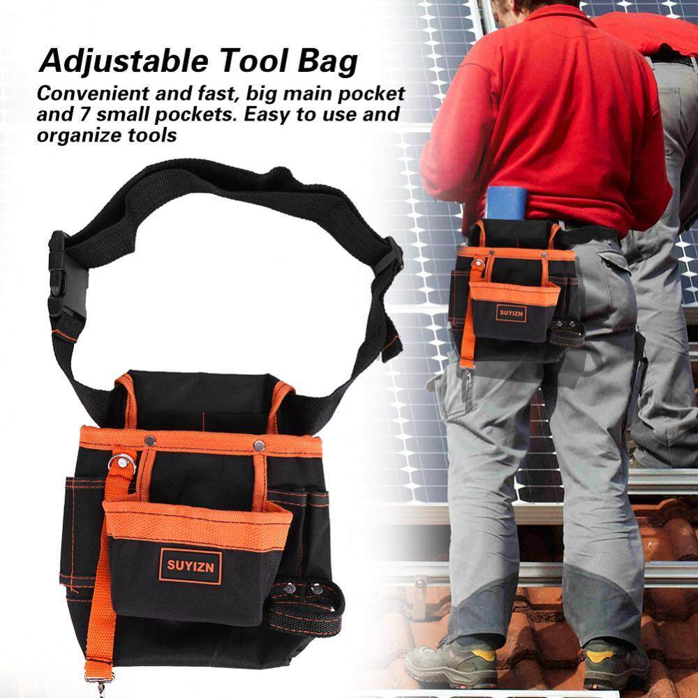 duoqiao [ Lowest price] 8 Pockets Belt Tool Bags Adjustable Portable Pouch Electrician Bag - intl