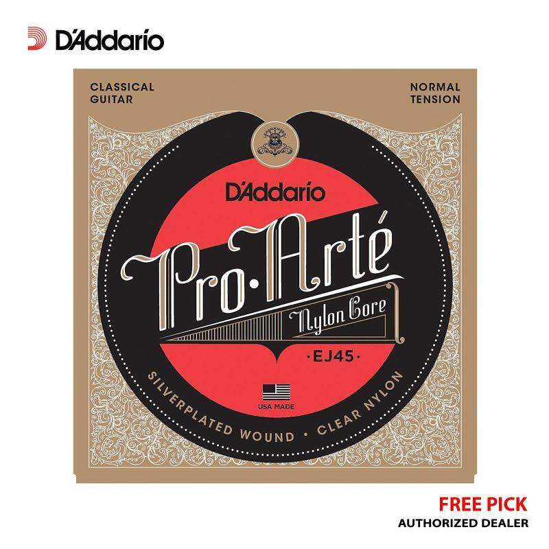 [USA MADE & Original] DAddario EJ45 Pro-Arte Nylon Classical Guitar Strings (Normal Tension) + Free Pick Malaysia